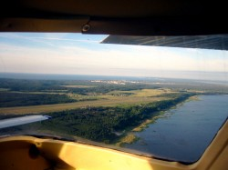 Approach to airport on Usedom