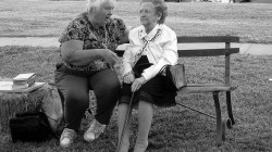 old women on bench